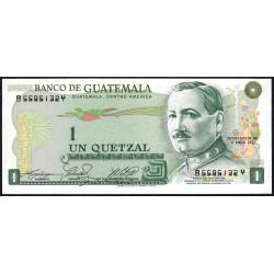 Guatémala - Pick 59c_7 - 0,50 quetzal - 06/01/1982 - Série BY - Etat : NEUF