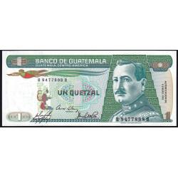 Guatémala - Pick 66_3 - 1 quetzal - 09/01/1985 - Série BB - Etat : NEUF