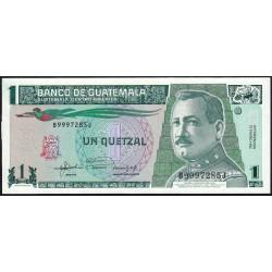 Guatémala - Pick 73c - 1 quetzal - 22/01/1992 - Série BJ - Etat : NEUF
