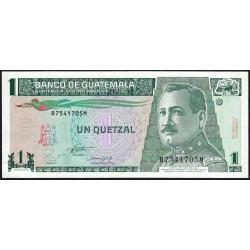 Guatémala - Pick 87a - 1 quetzal - 27/10/1993 - Série BM - Etat : NEUF