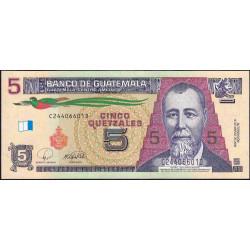 Guatémala - Pick 116 - 5 quetzales - 12/03/2008 - Série CD - Etat : NEUF