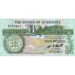 Guernesey - Pick 48a - 1 pound - Série B - 1980 - Etat : NEUF
