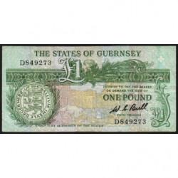 Guernesey - Pick 48a - 1 pound - Série D - 1980 - Etat : TTB
