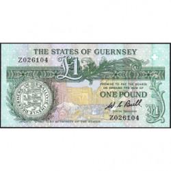 Guernesey - Pick 48ar (remplacement) - 1 pound - Série Z - 1980 - Etat : NEUF