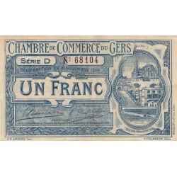 Auch (Gers) - Pirot 15-3 - Série D - 1 franc - 1914 - Etat : TTB