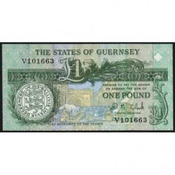 Guernesey - Pick 52c - 1 pound - Série V - 2004 - Etat : NEUF