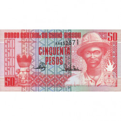 Guinée Bissau - Pick 10 - 50 pesos - 01/03/1990 - Etat : NEUF