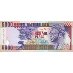 Guinée Bissau - Pick 14b - 5'000 pesos - 01/03/1993 - Etat : NEUF