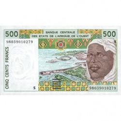Guinée Bissau - Pick 910Sc - 500 francs - 1998 - Etat : NEUF