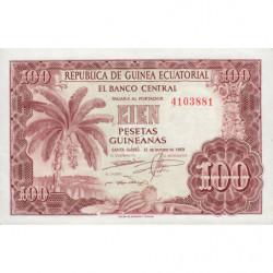 Guinée Equatoriale - Pick 1 - 100 pesetas guinéens - 12/10/1969 - Etat : NEUF