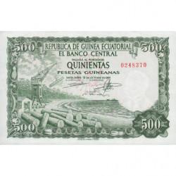 Guinée Equatoriale - Pick 2 - 500 pesetas guinéens - 12/10/1969 - Etat : NEUF