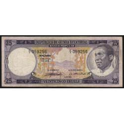 Guinée Equatoriale - Pick 4 - 25 ekuele - 07/07/1975 - Etat : TB-