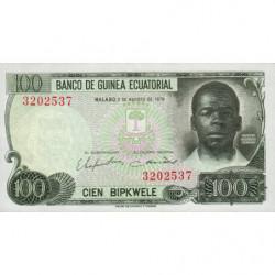 Guinée Equatoriale - Pick 14 - 100 bipkwele - 03/08/1978 - Etat : NEUF