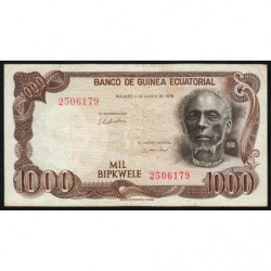 Guinée Equatoriale - Pick 16 - 1'000 bipkwele - 03/08/1978 - Etat : TB+