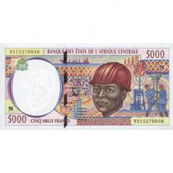 Guinée Equatoriale - Afr. Centrale - Pick 504Nb - 5'000 francs - 1995 - Etat : NEUF