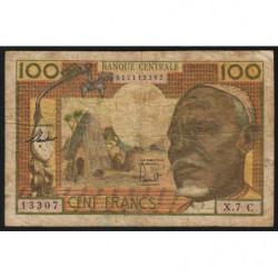 Congo (Brazzaville) - Afrique Equatoriale - Pick 3c - 100 francs - 1963 - Etat : B+