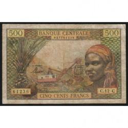 Congo (Brazzaville) - Afrique Equatoriale - Pick 4g - 500 francs - 1963 - Etat : TB-