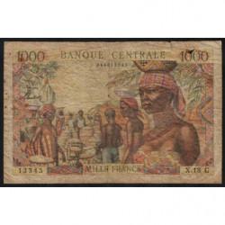 Congo (Brazzaville) - Afrique Equatoriale - Pick 5g - 1'000 francs - 1963 - Etat : B