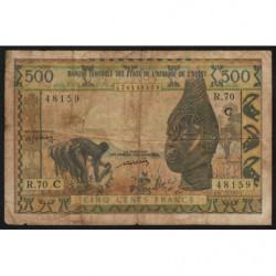 Burkina-Faso - Pick 302Cm - 500 francs - Série R.70 - 1976 - Etat : B+-