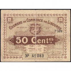 Libourne - Pirot 72-15 - 50 centimes - 1915 - Etat : TB-