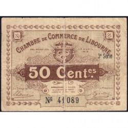 Libourne - Pirot 72-15 - 50 centimes - 3e série - 13/04/1915 - Etat : TB-