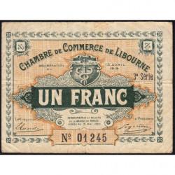 Libourne - Pirot 72-16 - 1 franc - 3e série - 13/04/1915 - Etat : TB-