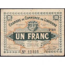 Libourne - Pirot 72-16 - 1 franc - 3e série - 13/04/1915 - Etat : TB