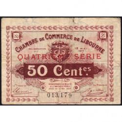 Libourne - Pirot 72-18 - 50 centimes - 1917 - Etat : B+