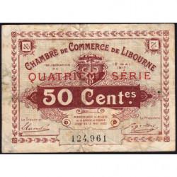 Libourne - Pirot 72-18 - 50 centimes - Quatrième série - 12/05/1917 - Etat : TB-