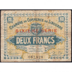 Libourne - Pirot 72-31 - 2 francs - 1920 - Etat : B