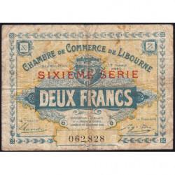 Libourne - Pirot 72-31 - 2 francs - Sixième série - 12/03/1920 - Etat : B