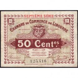 Libourne - Pirot 72-32 - 50 centimes - Septième série - 23/09/1920 - Etat : TTB