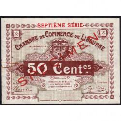 Libourne - Pirot non répertorié - 50 centimes - Septième série - 23/09/1920 - Spécimen - Etat : SUP+