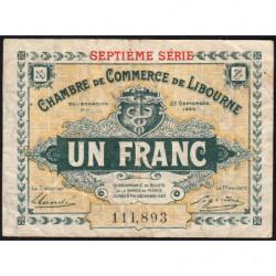 Libourne - Pirot 72-33 - 1 franc - Septième série - 23/09/1920 - Etat : TB