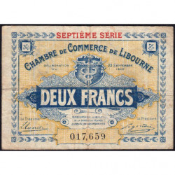 Libourne - Pirot 72-34 - 2 francs - Septième série - 23/09/1920 - Etat : TB-