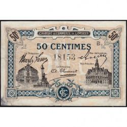 Limoges - Pirot 73-20 - 50 centimes - Série B - Sans date - Etat : TTB-