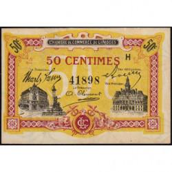 Limoges - Pirot 73-23 - 50 centimes - Série H - Sans date - Etat : SUP