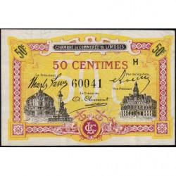 Limoges - Pirot 73-23 - 50 centimes - Série H - Sans date - Etat : NEUF