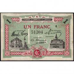 Limoges - Pirot 73-24 - 1 franc - Série E - Sans date - Etat : TTB+