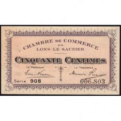 Lons-le-Saunier - Pirot 74-1 - 50 centimes - Série 908 - Sans date - Etat : TB