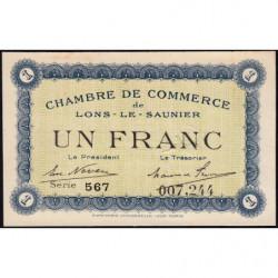 Lons-le-Saunier - Pirot 74-5 - 1 franc - Série 567 - Sans date - Etat : SUP