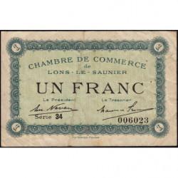 Lons-le-Saunier - Pirot 74-18b - 1 franc - Série 34 - Sans date - Etat : TB