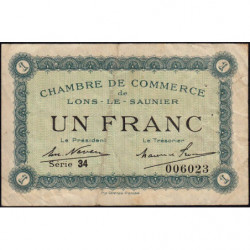 Lons-le-Saunier - Pirot 74-18b - Série 34 - 1 franc - Etat : TB