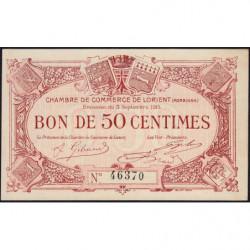 Lorient (Morbihan) - Pirot 75-1 - 50 centimes - Sans Série - 03/09/1915 - Etat : SPL