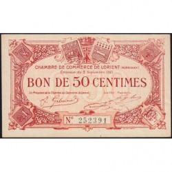 Lorient (Morbihan) - Pirot 75-4 - 50 centimes - Sans Série - 03/09/1915 - Etat : SUP+