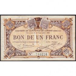 Lorient (Morbihan) - Pirot 75-18 - 1 franc - 1915 - Etat : TTB