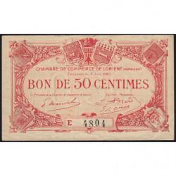 Lorient (Morbihan) - Pirot 75-35 - 50 centimes - Série E - 02/06/1920 - Etat : TTB+