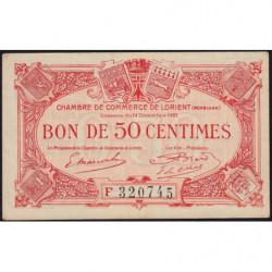 Lorient (Morbihan) - Pirot 75-38 - 50 centimes - Série F - 14/12/1921 - Etat : SUP