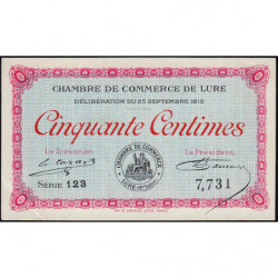 Lure - Pirot 76-1 - 50 centimes - Série 123 - 25/09/1915 - Etat : SUP+