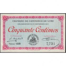 Lure - Pirot 76-1 - Série 123 - 50 centimes - 1915 - Etat : SUP+